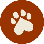 Paw with Heart Icon